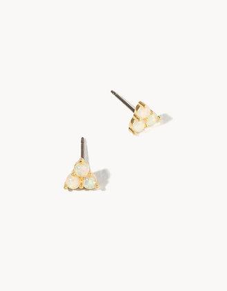 Delicate Triad Stud Earrings