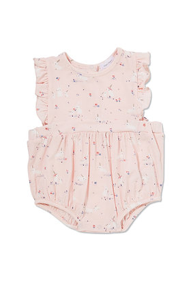 Pink Baby Bunnies Sunsuit