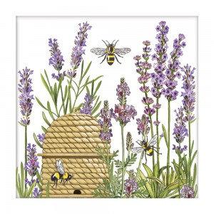 Botanical Lavender & Bees Paper Napkins