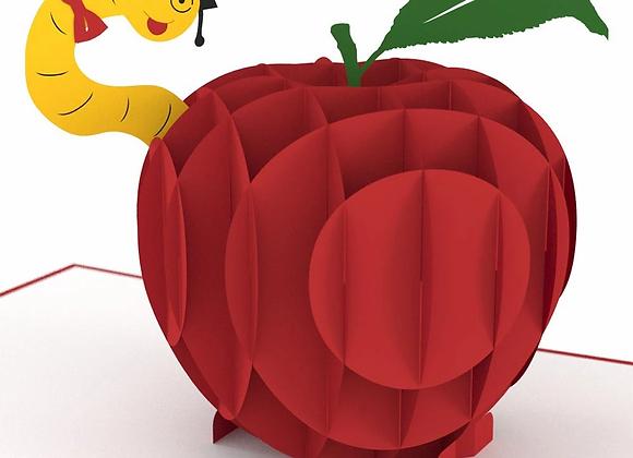 Teacher's Apple 3D Card