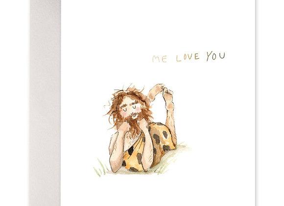 Caveman Love Card
