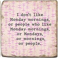 Single Marble Coaster- Monday