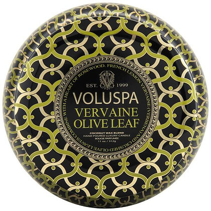 Vervaine Olive Leaf Two Wick Tin Candle