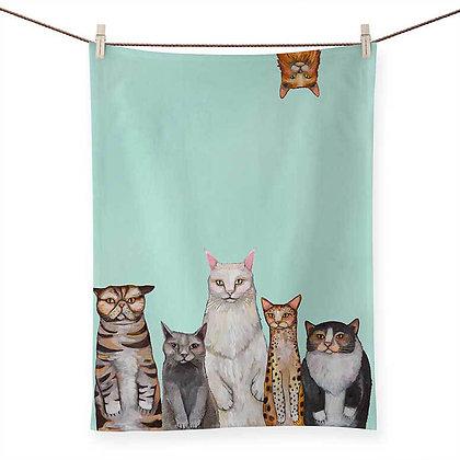 Cats Cats Cats Tea Towel