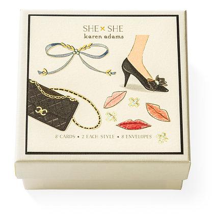 She She Gift Enclosure Boxed Notes
