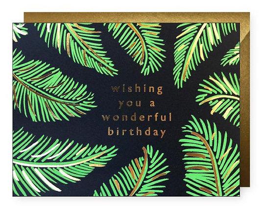Palm Wonderful Birthday Card