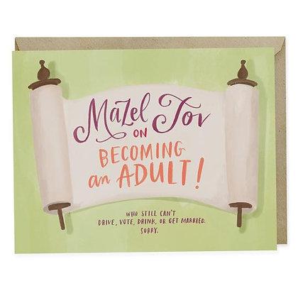 Bar and Bat Mitzvah- Becoming an Adult Card