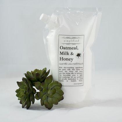Goat Milk Lotion Refill Bag- All Fragrances
