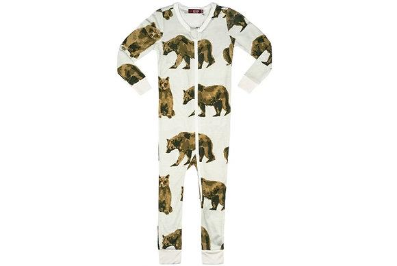 Bamboo Zipper Pajama - Bears