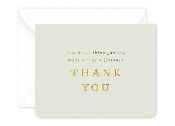Small Thing Thanks Card