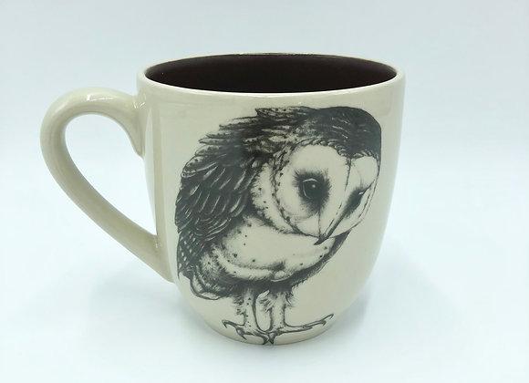 Barn Owl Mug by Laura Zindel