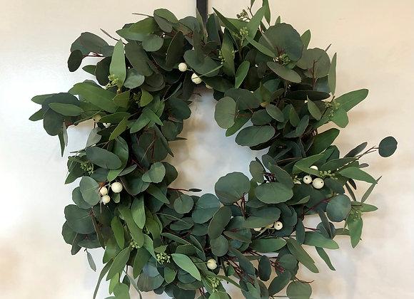 "24"" Eucalyptus with Berries Wreath"