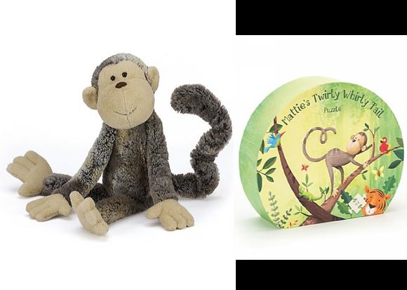 Mattie Monkey & Puzzle Set