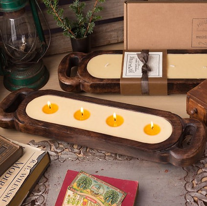"""23"""" Wooden Candle Tray- Med."""