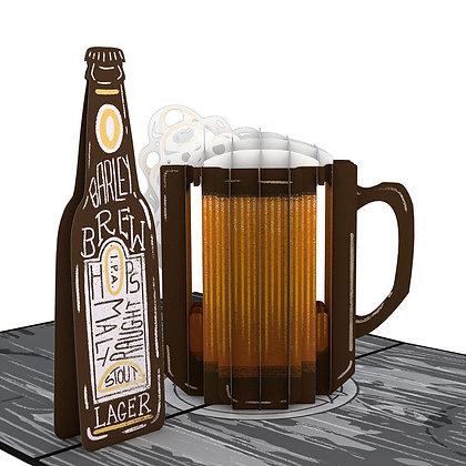 Beer Pop Up Card