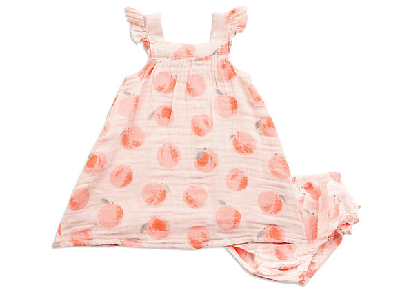 Peachy Sundress and Diaper Cover