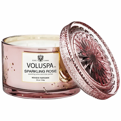 Sparkling Rose Maison Candle With Lid