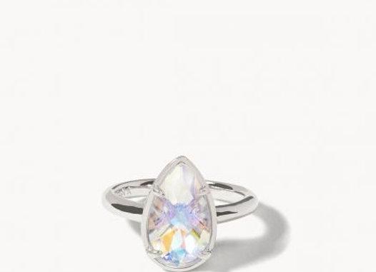 Mermaid Glass Dewdrop Ring