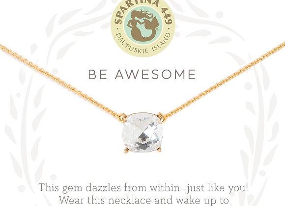 Sea La Vie Sea Glass Necklace- Be Awesome