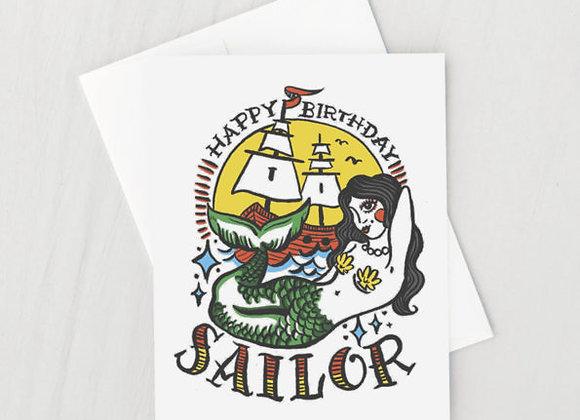 Happy Birthday Sailor Card