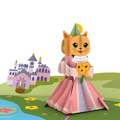 Cat Princess Pop Up Card