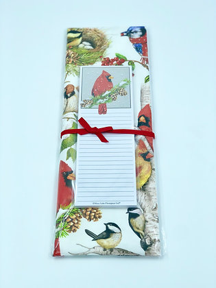 Winter Birds Towel and Notepad Set