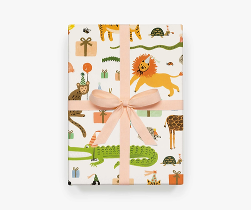 Party Animals Wrapping Paper Sheets