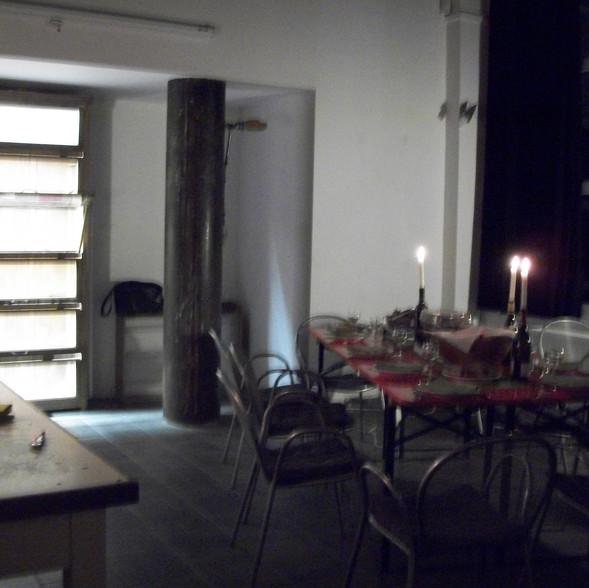 Repas in situ - Le Clignoteur - Bxl 2015