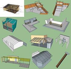 Telhado com estrutura em aço galvanizado Calhas Nova Valinhos