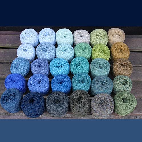 Garnpakke STOR – blå/grøn/turkis
