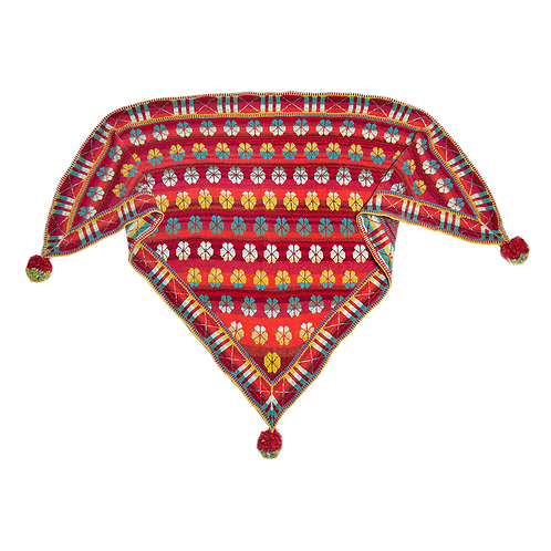 MALTHESE SHAWL - red