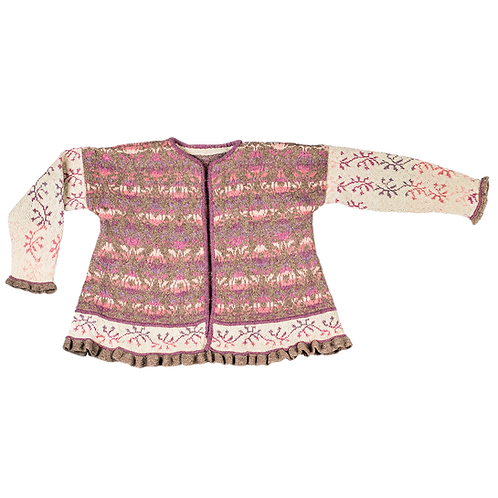 """""""Roses and Thornes"""" Jacket – Brown/cream/purple/rose"""
