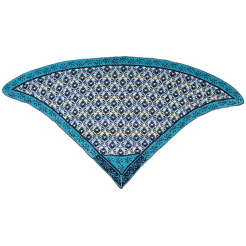 """Roses and Thornes"" Shawl - Blue/turquoise"