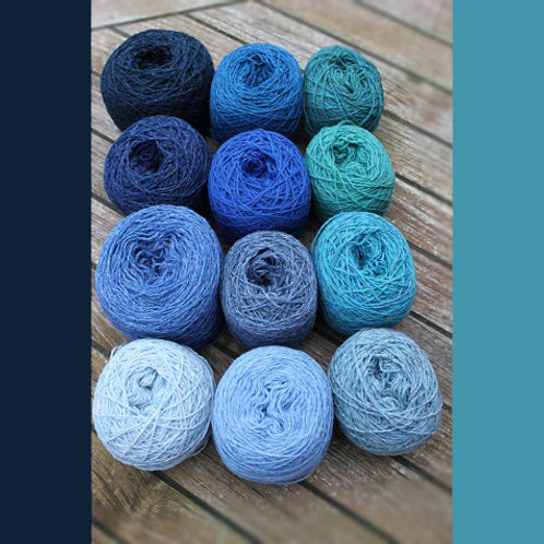 YARN KIT SMALL | BLUE/TURQUISE SHADES