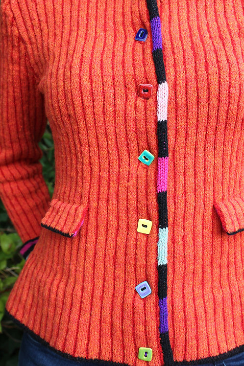 Ormegraverpigens nattrøje - orange/rød
