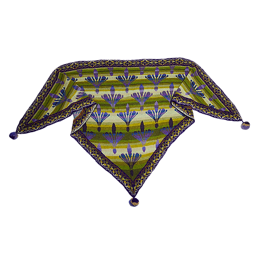 The Damask Lily shawl - light green/purple (COLOURS OF FANØ)