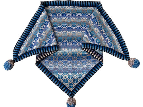 CORNFLOWER SHAWL BLUE