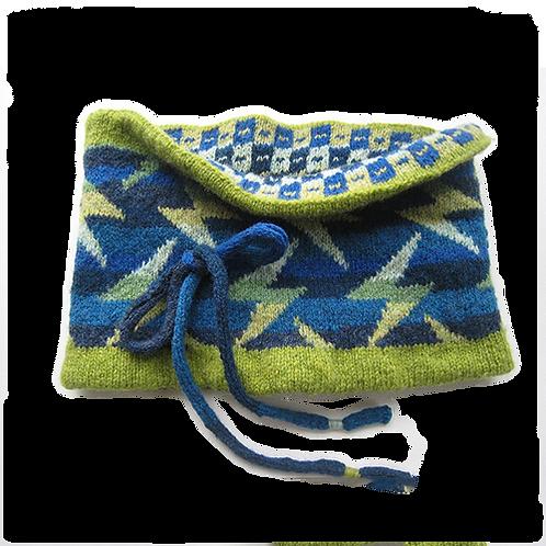 NECK WARMER - blue/green