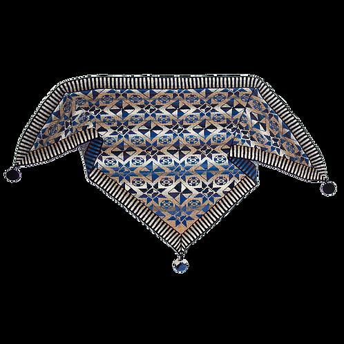 THE TILE SHAWL | BLUE  (Colours of Fanø)