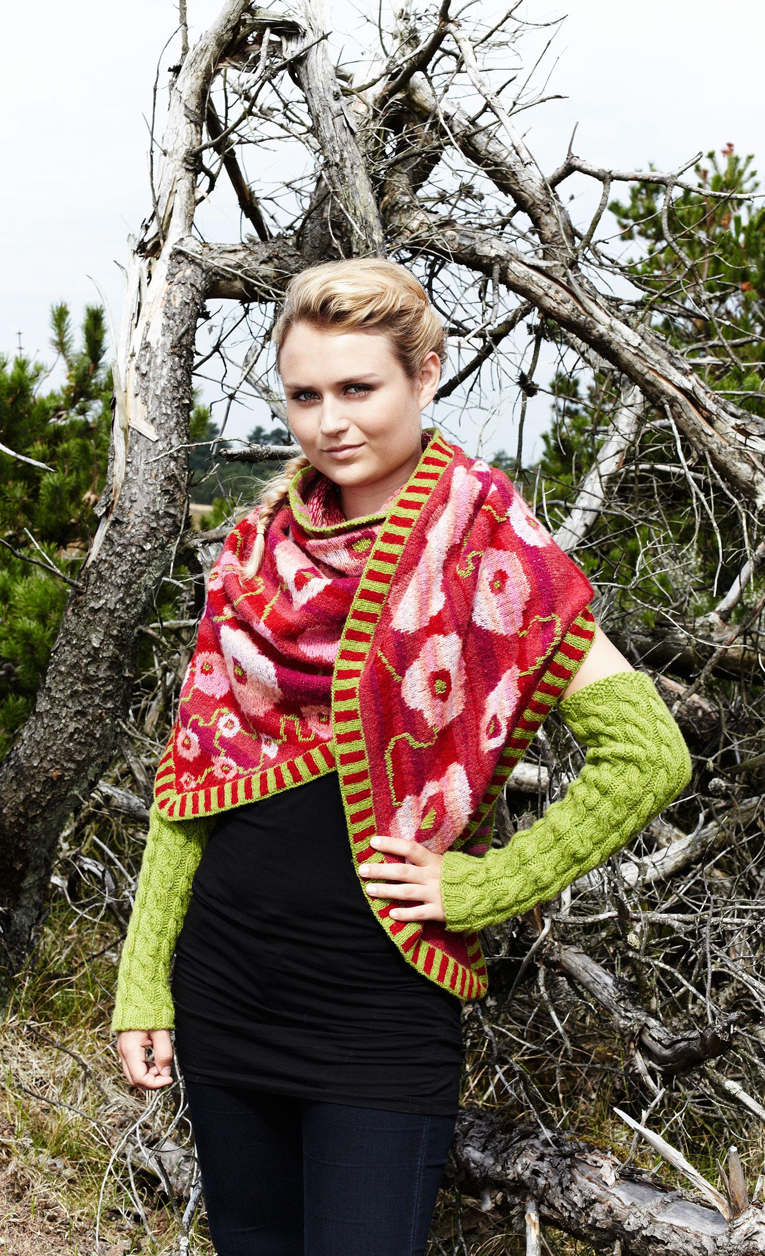 Christel Seyfarth Masai sjal Sommer