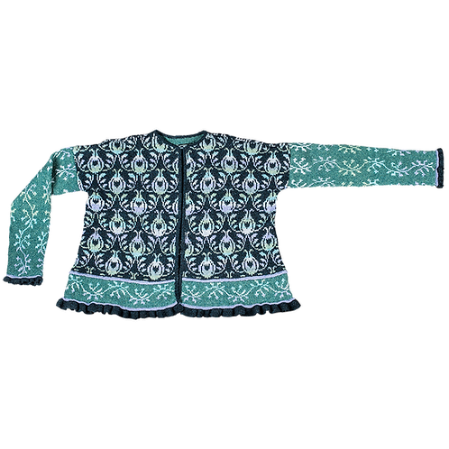 """Roses and Thornes"" Jacket – Blue/turquoise/purple"