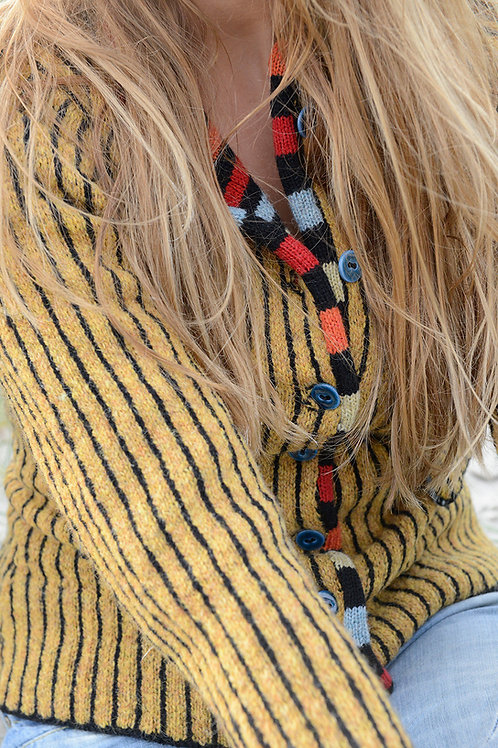 THE WORMDIGGER GIRL'S JACKET, mustard/black,