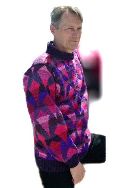 THE KITE FLYER'S SWEATER, Purple/pink