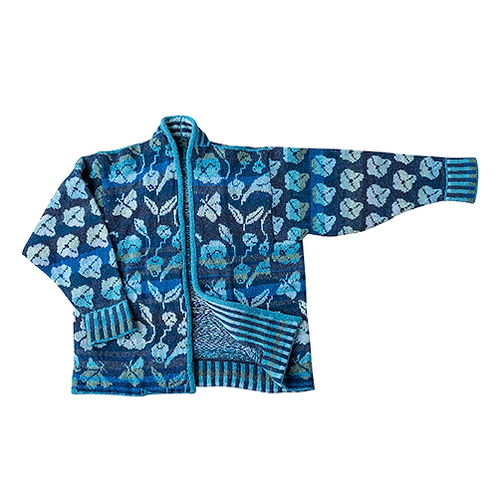 FLORA jakke - havblå