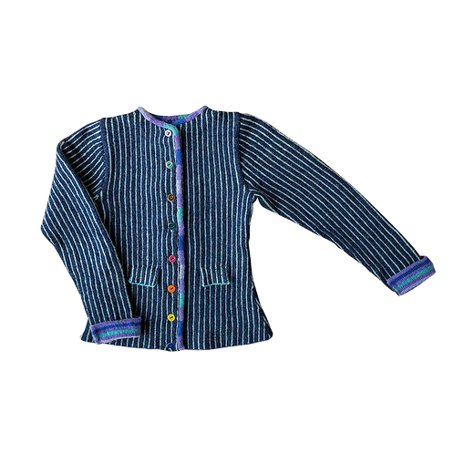 THE WORMDIGGER GIRL'S JACKET, blue