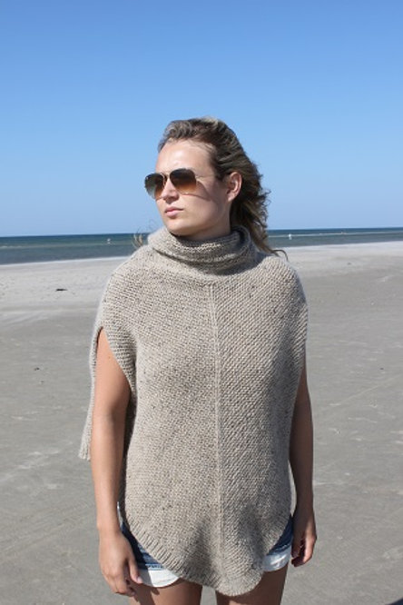 CLASSIC PONCHO - Mohair Tweed