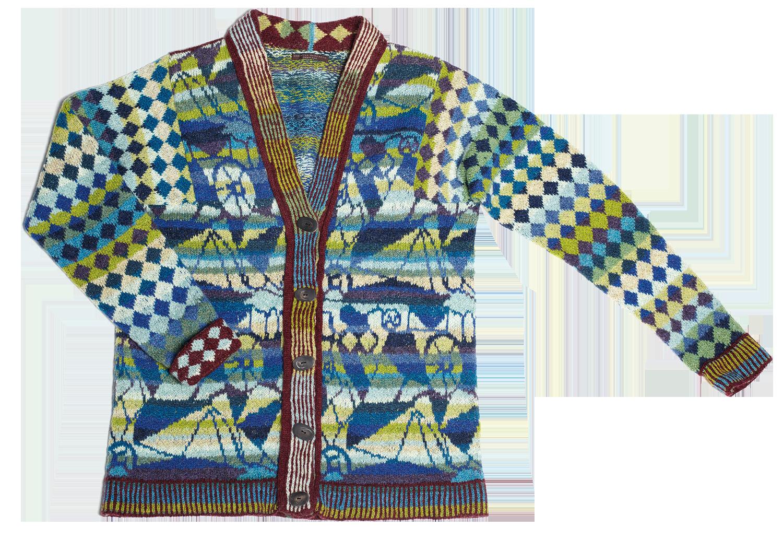 Christel Seyfarth mosaik jakke