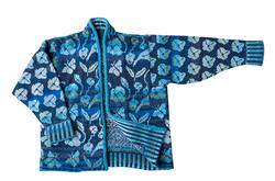 Christel Seyfarth flora jakke blå