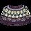 Thumbnail: CAPE HAVILA - aubergine/lys turkis/blå/sand
