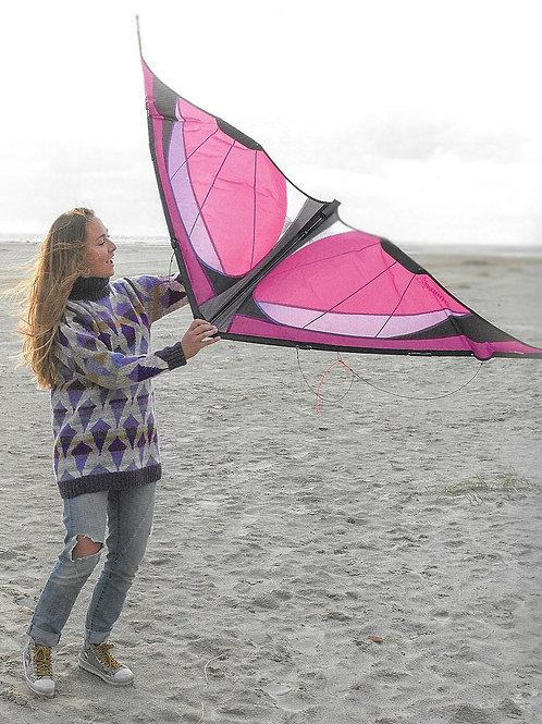 Drageflyverens trøje - sand/lilla